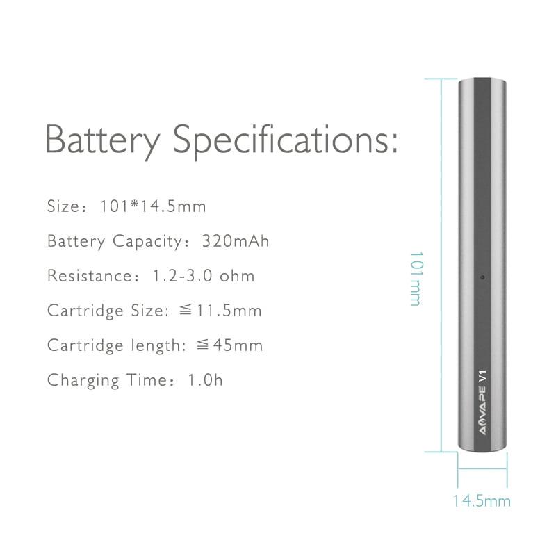 V1 Wax Pen Battery