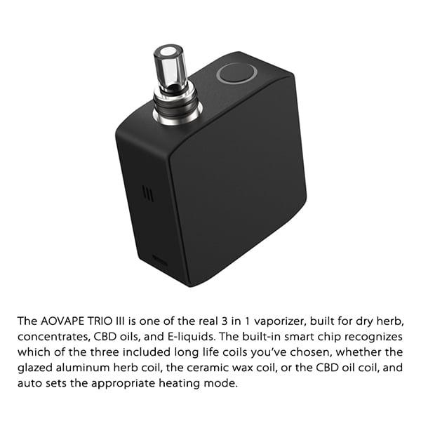 Dry herb vaporizer TRIO-1