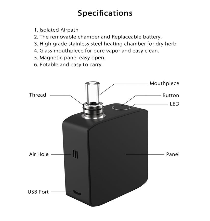 Weed vaporizer Aovape TRIO-2