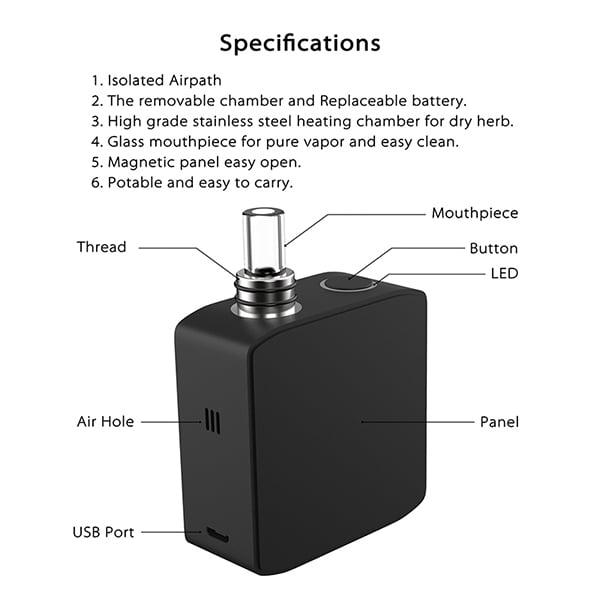 dab weed vaporizer TRIO-2